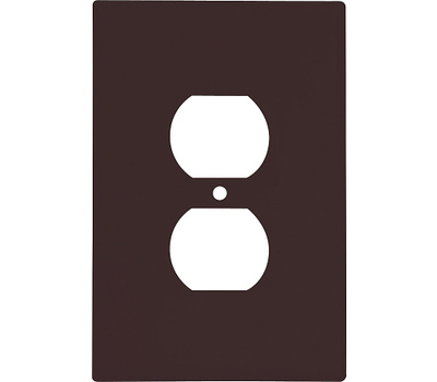 Cooper Wiring 2142B-BOX 1 Gang Oversize Duplex Receptacle Wall Plate Brown