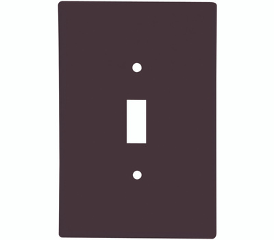 Cooper Wiring 2144B-BOX 1 Gang Oversize Toggle Wall Plate Brown