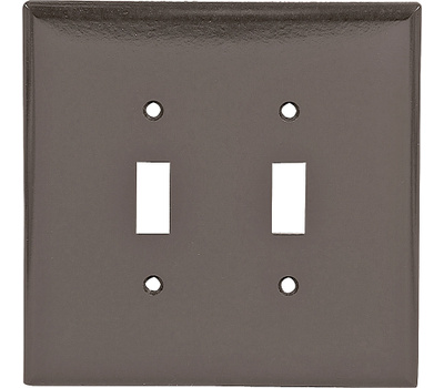 Cooper Wiring 2149B-BOX 2 Gang Oversize 2 Toggle Wall Plate Brown