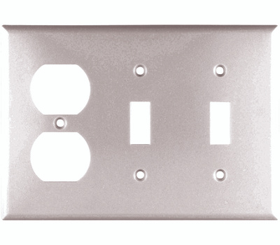 Cooper Wiring 2158W-BOX Combination Standard Wall Plate 3 Gang White