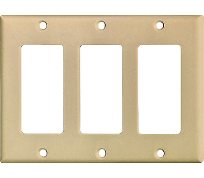 Cooper Wiring 2163V-BOX Decorator 3 Gang Wallplate Ivory