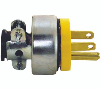Cooper Wiring 2867-BOX 3 Wire Grounded Armored Plug Yellow