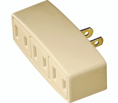 Cooper Wiring 1747V-BOX 3 Outlet 2 Wire Tap Ivory