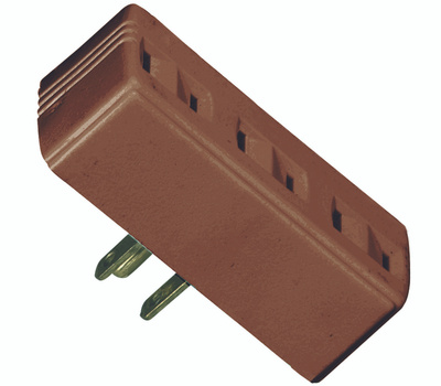 Cooper Wiring BP1747B 3 Outlet 2 Wire Tap And Adapter Brown