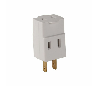 Cooper Wiring 4400W-BOX 3 Outlet 2 Wire Cube Tapping White