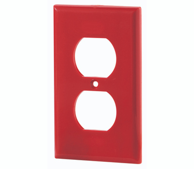Eaton Cooper Wiring 5132RD-BOX 1 Gang Red Receptacle Plate