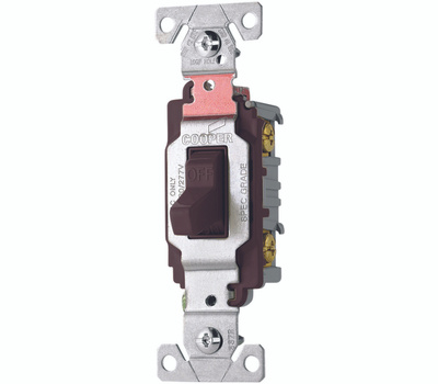Cooper Wiring CS220B Toggle Light Switch 20A Double
