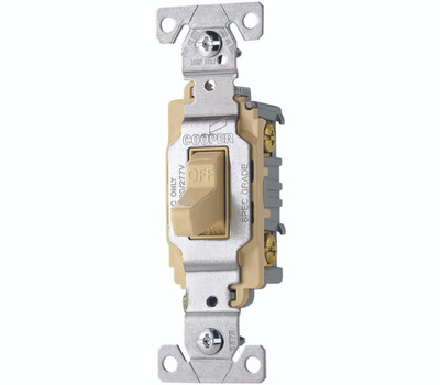 Cooper Wiring CS220V Toggle Light Switch 20A Double