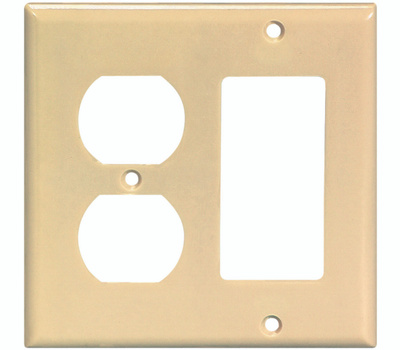 Cooper Wiring 2157V-BOX 2 Gang Duplex Receptacle Wall Plate