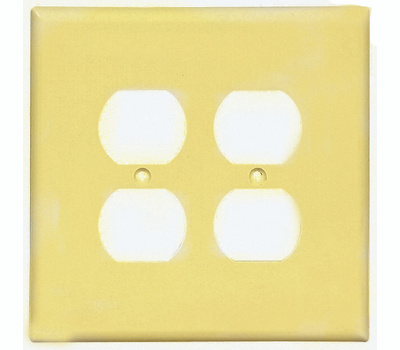 Cooper Wiring 2750V-BOX 2 Gang Oversize 2 Duplex Receptacle Wall Plate Ivory