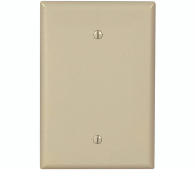 Eaton Cooper Wiring 2729V-BOX 1 Gang Oversize Blank Wall Plate Ivory