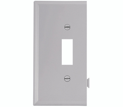 Cooper Wiring STE1W Snap Together Toggle End Plate White