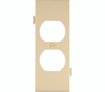 Cooper Wiring STC8V Snap Together Duplex Receptacle Center Plate Ivory
