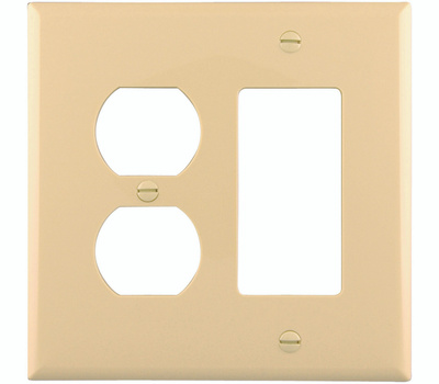Cooper Wiring PJ826V 2 Gang Duplex And Decorative Plate Ivory