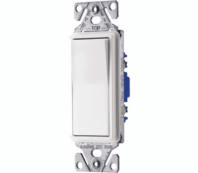 Cooper Wiring C7511W 1 Pole Lighted Decor Switch White