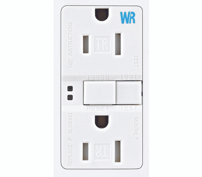 Cooper Wiring TWRSGF15W Arrowhart 15 Amp Tamper And Weather Resistant Specification Grade GFCI Duplex Receptacle Self Test White