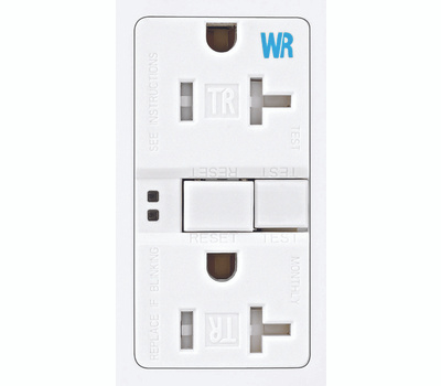 Cooper Wiring TWRSGF20W Arrowhart Duplex Receptacle GFCI Self Test Tamper Weather Resistant 20 Amp White