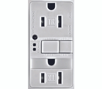 Cooper Wiring TRSGFNL15W-K 15 Amp GFCI Duplex Recepticle Tamper Resistant With Nightlight White