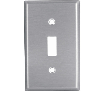 Cooper Wiring 93071-BOX1 1 Gang Toggle Switch Wallplate Stainless Steel