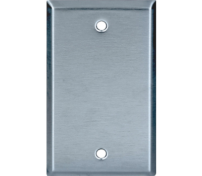 Eaton Cooper Wiring 93151-BOX One Gang Stainless Steel Blank Wall Plate