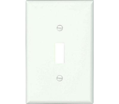 Eaton Cooper Wiring PJ1W-CP-L 1 Gang Toggle Mid Size Wallplate White Pack Of 10