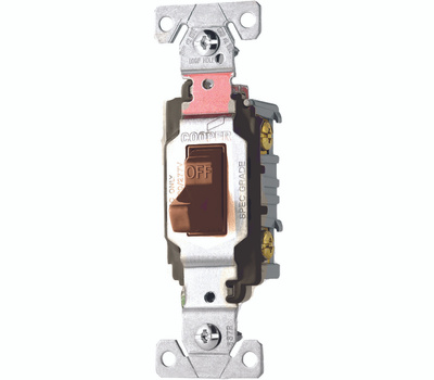 Cooper Wiring CS120B Toggle Light Switch 20A Brown