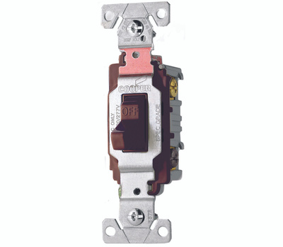 Cooper Wiring CS320B Toggle Light Switch 20A 3 Way