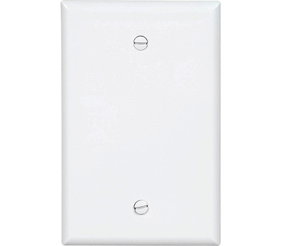 Cooper Wiring PJ13W 1 Gang Mid Size Blank Plate White