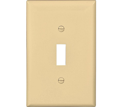 Cooper Wiring PJ1V 1 Gang Mid Size Toggle Plate Ivory