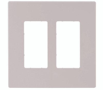 Cooper Wiring PJS262W Screwless Wallplate 2 Gang Rocker White