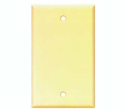 Cooper Wiring 2129V-BOX Blank Standard Wall Plate 1 Gang Ivory