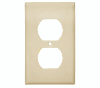 Cooper Wiring 2132V 1 Gang Standard Duplex Receptacle Wall Plate Ivory