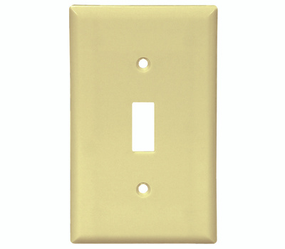 Cooper Wiring 2134V 1 Gang Standard Toggle Wall Plate Ivory Pack Of 10