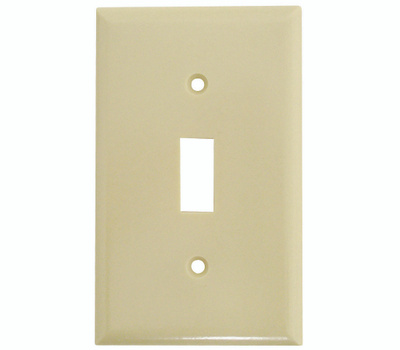 Cooper Wiring 2134V-BOX 1 Gang Standard Toggle Wall Plate Ivory