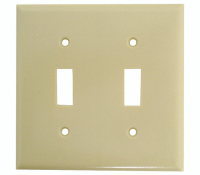Cooper Wiring 2139V-BOX 2 Gang Toggle Switch Wall Plate Ivory