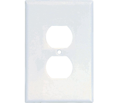 Cooper Wiring 2142W-BOX 1 Gang Oversize Duplex Receptacle Wall Plate White