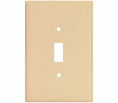 Cooper Wiring 2144V-BOX 1 Gang Oversize Toggle Wall Plate Ivory
