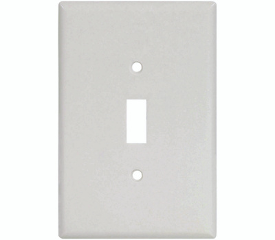 Cooper Wiring 2144W-BOX 1 Gang Oversize Toggle Wall Plate White