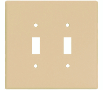 Cooper Wiring 2149V-BOX 2 Gang Oversize 2 Toggle Wall Plate Ivory