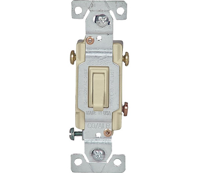 Eaton Cooper Wiring 5223-7V-BU Copal 3 Way Toggle Switch 15 Amps 120 Volts Ivory