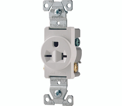 Cooper Wiring 1876wbox 20 3 Wire Grounded Receptacle White. Cooper Wiring 1876wbox 20 3 Wire Grounded Receptacle White. Wiring. Wiring 20 Amp Outlets In Series At Scoala.co