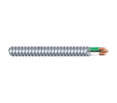 Southwire 68579222 Armorlite Solid Metal Clad Cable 14/2 By 50 Feet Black And White
