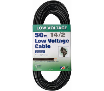 Coleman Cable 55213242 14/2 By 50 Foot Low-Voltage Cable