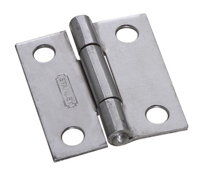 National Hardware S113-000 Stanley Non-Removable Fixed Pin Narrow Hinge 1-1/2 By 1-3/8 Inch Weldable Plain Steel Bulk