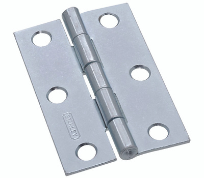 National Hardware S113-700 N146-241 Stanley Non-Removable Fixed Pin Narrow Hinge 2-1/2 By 1-11/16 Inch Zinc Plated Steel
