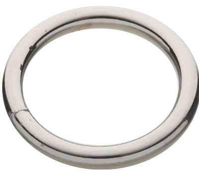 National Hardware S640-023 N223-149 Stanley Welded Ring #3 By 1-1/2 Inch Bright Chrome On Steel