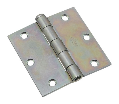 National Hardware S751-485 Stanley Removable Pin Broad Hinge 3-1/2 Inch Zinc Plated Steel