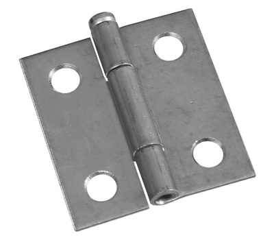 National Hardware S751-576 S751-577 N141-739 Stanley Removable Pin Narrow Hinges 1-1/2 By 1-7/16 Inch Zinc Plated Steel 2 Pack