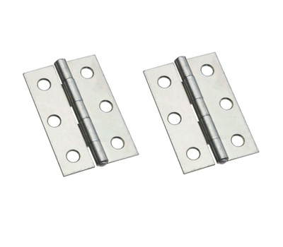 National Hardware S751-950 N146-258 Stanley Non-Removable Fixed Pin Narrow Hinges 2-1/2 By 1-11/16 Inch Zinc Plated Steel 2 Pack