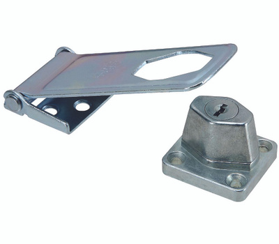 National Hardware S755-240 Stanley Keyed 4-1/2 Inch Locking Hasp With Corrugated Leaf Zinc Plated
